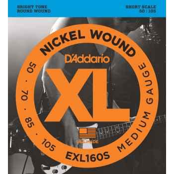 D´addario EXL160S Medium Short Scale Cuerdas para Bajo